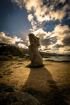 A local statue on the shores of Lyall Bay in Wellington New Zealand.