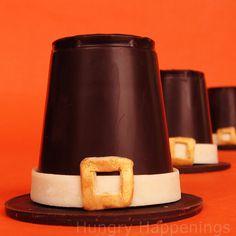 How to make Chocolate Pilgrim Hats