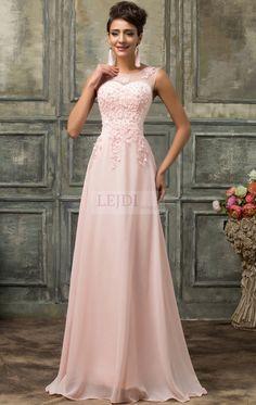 Pink long dress with pearls.Suknia wieczorowa z perłami, jasny róż r.36 - r.54  www.lejdi.pl