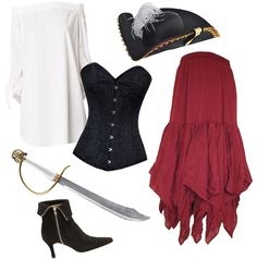 Shop a pirate costume.