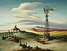 Thomas Hart Benton, Open Country, 1952 Oil and tempera on canvas, mounted on panel Unframed: 27 1/4 x 35 1/4 in.The Nelson-Atkins Museum of Art