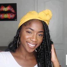 Hair Wrap Scarf, Hair Scarf Styles, Curly Hair Styles, Natural Hair Styles, Scarf Hairstyles, African Hairstyles, Headwraps For Natural Hair, African Hair Wrap, Mode Turban