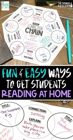Fun, easy, concrete ways to help motivate students to read more at home. Freebies included!