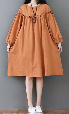 Loose dress woman long bohemian bohemian tunic and large dress Nactumu France Trendy Dresses, Simple Dresses, Cute Dresses, Casual Dresses, Summer Dresses, Maxi Dresses, Beach Dresses, Muslim Fashion, Hijab Fashion