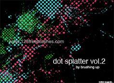 Dot Splatter 2 - Download  Photoshop brush http://www.123freebrushes.com/dot-splatter-2/ , Published in #GrungeSplatter. More Free Grunge & Splatter Brushes, http://www.123freebrushes.com/free-brushes/grunge-splatter/ | #123freebrushes