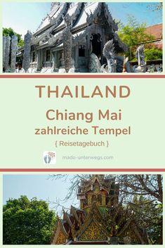 In #chiangmai gibt es ~ 300 #tempel 🛕: Bekannte und weniger bekannte: Wat Phra Singh ・ Wat Phra That Doi Suthep (= goldener Tempel) ・ Wat Sri Suphan (= silberner Tempel) 🤍 sowie Wat Chai Phra Kiat ・ Wat Buppharam.  // #madoreisen #madounterwegs👣 #reisetagebuch #asien #reisetipp #travel #tourismthailand // Werbung, da Firmen-/Marken-/Ort-/Personen-Nennung oder -Verlinkung ohne Auftrag, aber als persönliche Empfehlung // Dienstleistungen/Produkte/Unterkünfte selbst bezahlt // Chiang Mai, Thailand, Desktop Screenshot, Golden Temple, Travel Scrapbook, Travel Advice, Places