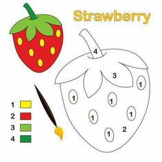 Strawberry Color By Number KidsPressMagazine com is part of Preschool color activities - A Strawberry sits ready to color This color by number activity is simple consisting of only four colors and is perfect as Preschool Color Activities, Preschool Writing, Numbers Preschool, Kids Learning Activities, Preschool Printables, Teaching Resources, Kindergarten Math Worksheets, In Kindergarten, Strawberry Color