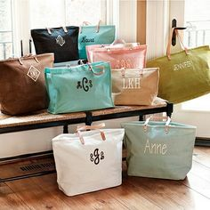Ballard Tote Bags -  The large, personalized, is only $25... bridesmaids gift???