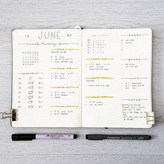 764 vind-ik-leuks, 8 reacties - joos | bullet journal newbie (@bu.joos) op Instagram: 'J U N E // weekly Sorry for the lack of post. I can't believe that it's already July next week!…'