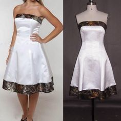 Wedding Dress, Wedding Dresses, camo wedding dress, Short wedding dresses, satin wedding dresses,Bridal Gown