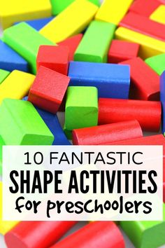 Whether your preschooler already knows her shapes, or she's still struggling to remember the difference between a square and a rectangle, these shape activities for preschoolers are perfect boredom busters for long days at home!