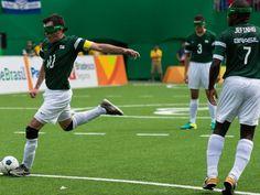 Partida de futebol de 5 da seleção brasileira nos Jogos Paralímpicos de Rio 2016