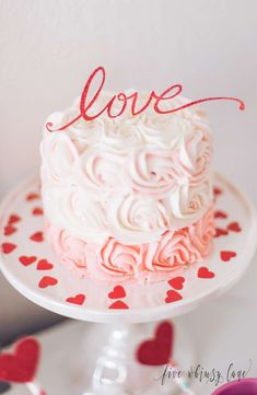 The cake at this Valentines Day party is amazing!!! See more party ideas and share yours at CatchMyParty.com #valentinesday #cake
