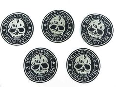 Hell Cat Punks skull skeleton motorcycles biker chopper punk rock embroidered iron on patch $1.5 - http://www.wholesalesarong.com/blog/hell-cat-punks-skull-skeleton-motorcycles-biker-chopper-punk-rock-embroidered-iron-on-patch-1-5/