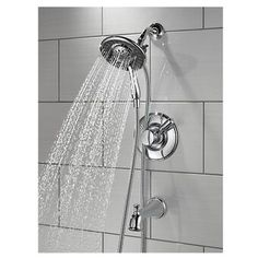Delta Linden Pressure Balanced Tub and Shower Faucet with Monitor Finish: