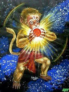 Hanumanji eating sun...