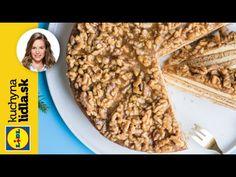 Medové rezy s orechovou grilážou 🥜🍯  Veronika Bušová   Kuchyňa Lidla - YouTube Baking Videos, Lidl, Catering, Cereal, Oatmeal, Breakfast, Youtube, Food, The Oatmeal