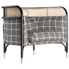 Targa Lounge Chair, Contemporary Lounge Chair With Woven Cane Edge #ChairClassic