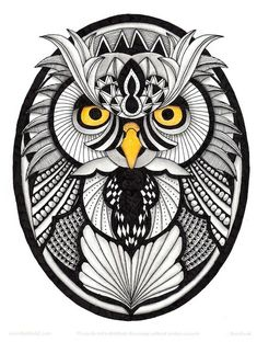 Tangled owl - This owl is based on a template by Ben Kwok. Ben's templates are available to members of his Facebook group Ornation Creation.