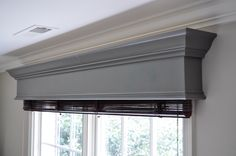 DIY Window Cornice | detailed step-by-step photo tutorial to build a window cornice, on Remodelaholic.com