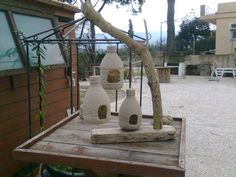 bird feeders made from plastic bottles | Picture of Plastic bottle Bird Feeders