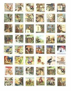 gnomes elves elf fantasy fairy tale digital by DigitalGraphicsShop, $2.50