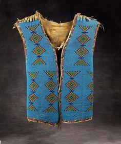 Blackfeet (Montana or Alberta), Man's Vest, beads/cloth/leather, c. 1900.