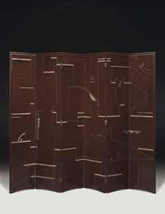 Eight-panel screen, circa 1921-23, by Eileen Gray