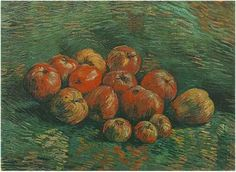 Vincent van Gogh Painting, Oil on Canvas Paris: Autumn - Winter, 1887 - 88 Van Gogh Museum Amsterdam, The Netherlands, Europe F: 254, JH: 1342 Image Only - Van Gogh: Still Life with Apples