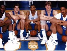 David Henderson, Jay Bilas, Johnny Dawkins, Mark Alarie and Weldon Williams Basketball Legends, Duke Basketball, College Basketball, Duke Blue Devils, Denver Nuggets, Jay, Sports, David, Hs Sports