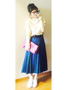 このスカートは、ヨーロッパから仕入れたヴィンテージのものです♡