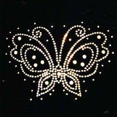 Stock beautiful butterfly transfer rhinestone