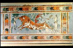Knossos frescos, and furthermore that they underly the legend of Theseus and the Minotaur.