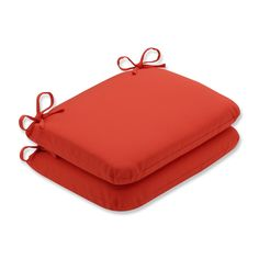 Pillow Perfect Outdoor / Indoor Splash Mango Rounded Corners Seat Cushion
