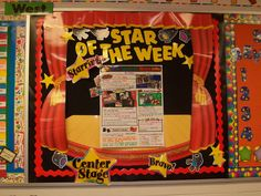 Terhune's First Grade Site!: The Ultimate Classroom Tour Classroom Walls, Classroom Bulletin Boards, School Classroom, Classroom Themes, Movie Classroom, Classroom Signs, Primary Classroom, School Displays, Classroom Displays