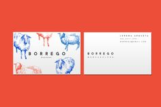 BORREGO - Branding/Identity design by Claudia Argueta, via Behance