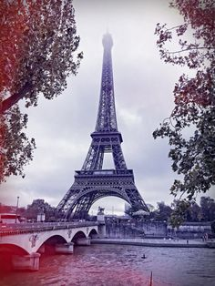 Eiffel Tower in the Fall Instant Download Paris by DigiPho on Etsy