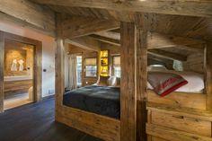 maison chalet chambre deco bois