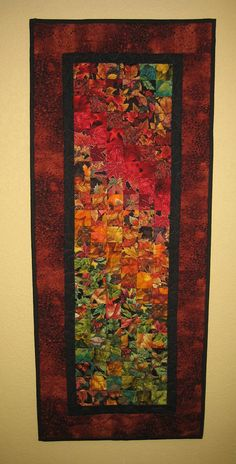Autumn Art Quilt Wall Hanging by TahoeQuilts on Etsy