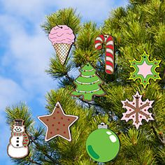 """Ornament Patterns;  Now you can decorate your outside trees with these beautiful ornaments that you can easily make! 7"""" Tall. 8 Designs! Pattern #2445  $10.95   ( crafting, crafts, woodcraft, pattern, woodworking, yard art ) Pattern by Sherwood Creations"""