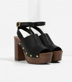 Charles & Keith Rivet Detail Platform Sandals