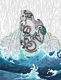 Maori Manaia patterns - Google Search Waves, Tattoo, Patterns, Google Search, Artwork, Maori, Block Prints, Work Of Art, Pattern