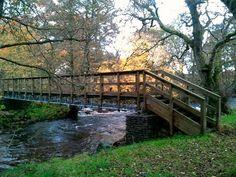 Footbridge over the River Prosen in Angus, Scotland