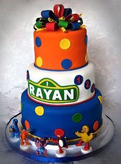 sesame street first birthday cakes   Sesame Street First Birthday Cake
