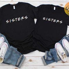 Matching Outfits Best Friend, Best Friend Outfits, Best Friend Shirts, Friends Shirts, Sister Shirts, Shirts For Girls, Friends Tv Show Shirt, Culottes, Cute Shirts