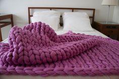 SALE, Chunky knit blanket, Merino Wool, blanket, Chunky blanket, Giant knit…
