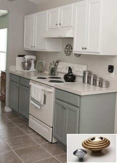 Kitchen Storage Made Simple - 3 New and Easy DIY Tips.  #cabinetskitchen #kitchencabinetstrending #openkitchen Kitchen Cabinets Color Combination, Two Tone Kitchen Cabinets, Kitchen Cabinet Colors, Painting Kitchen Cabinets, Kitchen Paint, Kitchen Redo, Kitchen Colors, Grey Cabinets, Kitchen Ideas