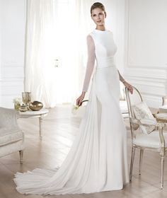 Pronovias vous présente la robe de mariée Yelice. Atelier Pronovias 2014. | Pronovias