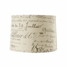 Shabby, Chic and Charming: Lamp Shade Redo~ Old French Writing
