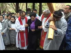 Julia Kim suffered crucifixion on Good Friday 2011-Naju Korea